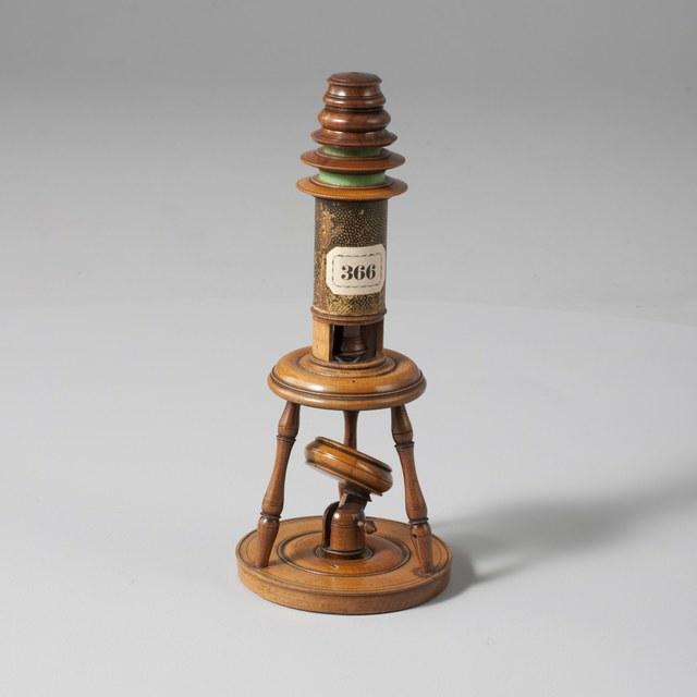 Drievoetmicroscoop, naar Edmond Culpeper, ca. 1750