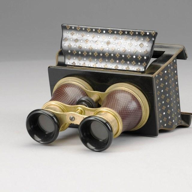 Stereoscoop, voor maanfoto's van Warren de la Rue