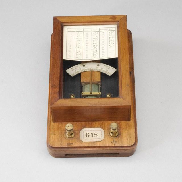 Draaispoelmeter voor elektrische spanningen, naar Deprez