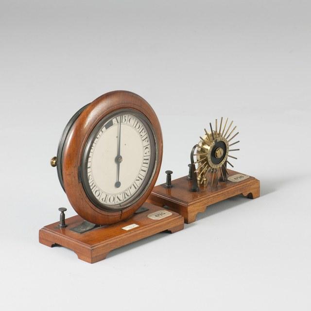 Model van een wijzertelegraaf, naar Charles Wheatstone (1837, 1840)
