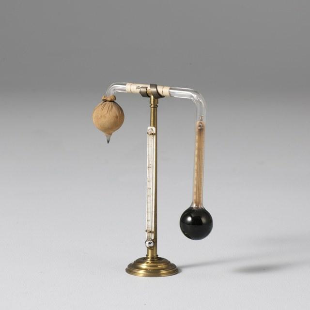 Hygrometer, naar John Frederic Daniell (1820)