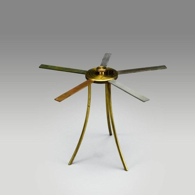Demonstratietoestel voor het verschillend warmtegeleidingsvermogen van metalen