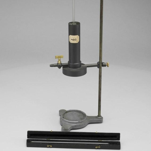 Projectieopstelling voor de demonstratie van de faseovergang van koolzuur bij de kritieke temperatuur, naar Natterer