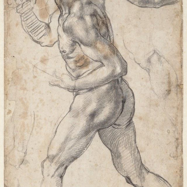 Figuurstudie van een lopende man