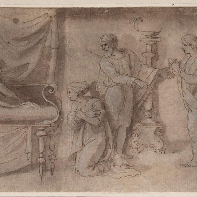 Bathseba en Salomo aan het sterfbed van David