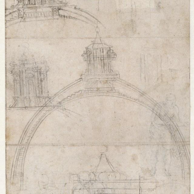 Doorsnede van de koepel van de Sint Pieter te Rome
