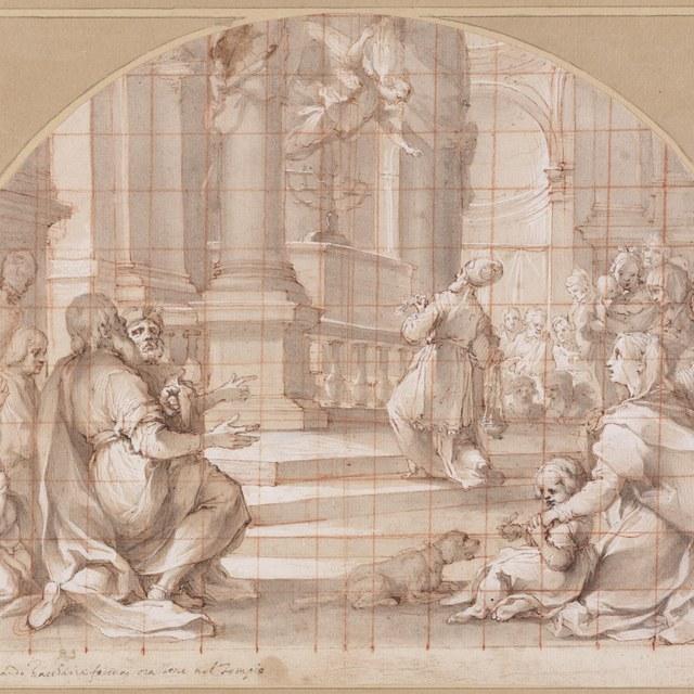 Verkondiging aan Zacharias van Johannes' geboorte