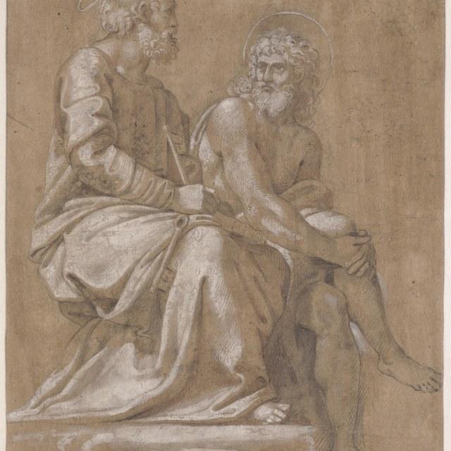 Petrus en Johannes de Doper (Disputa)