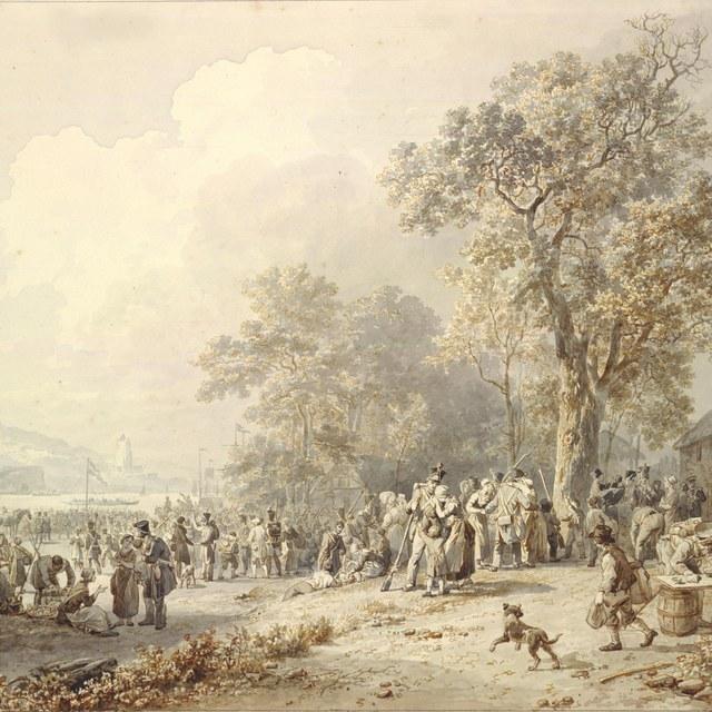 Het afscheidnemen der Schutters, 1831