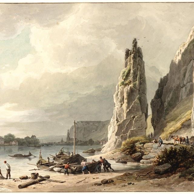 De 'Rocher Bayard' aan de Maas bij Dinant