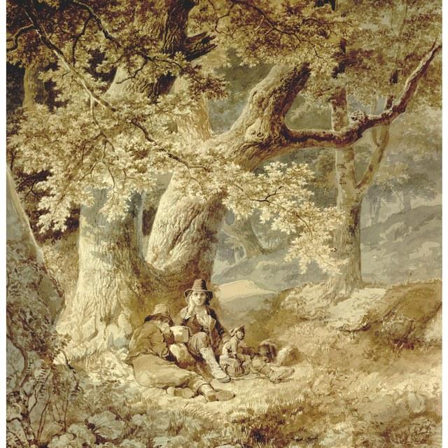 Rustende Savoyaards in een bos