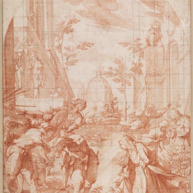 Heilige Katharina van Siena verblindt de soldaten
