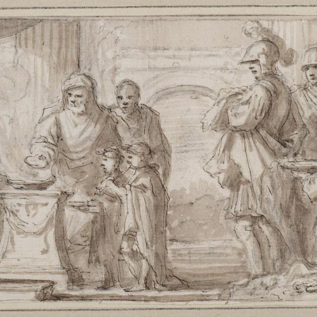 Offer door Alexander de Grote aan Zeus Ammon
