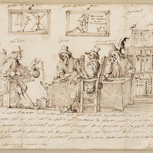 Marchese Pietro bij de rechters in de onderwereld