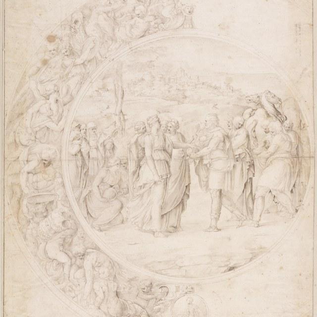 Odysseus herkent Achilles onder de dochters van Lykomedes
