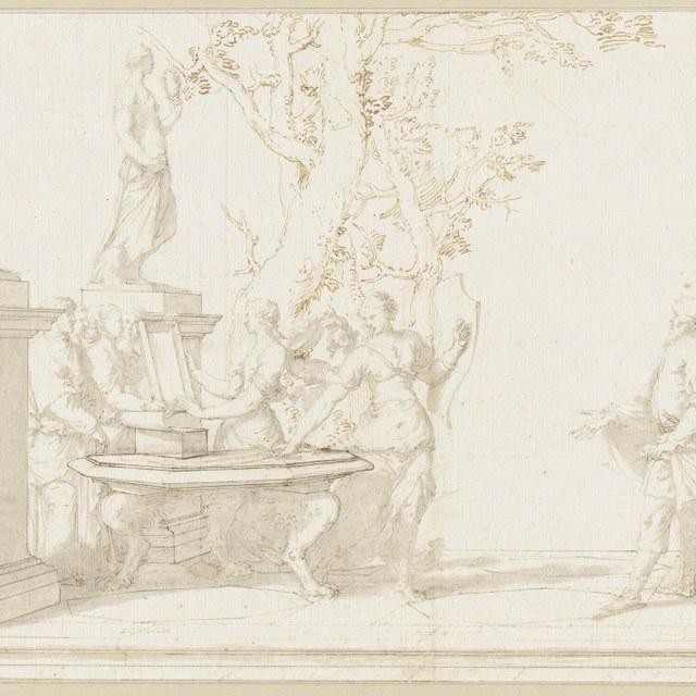 Achilles op Skyros door Odysseus herkend