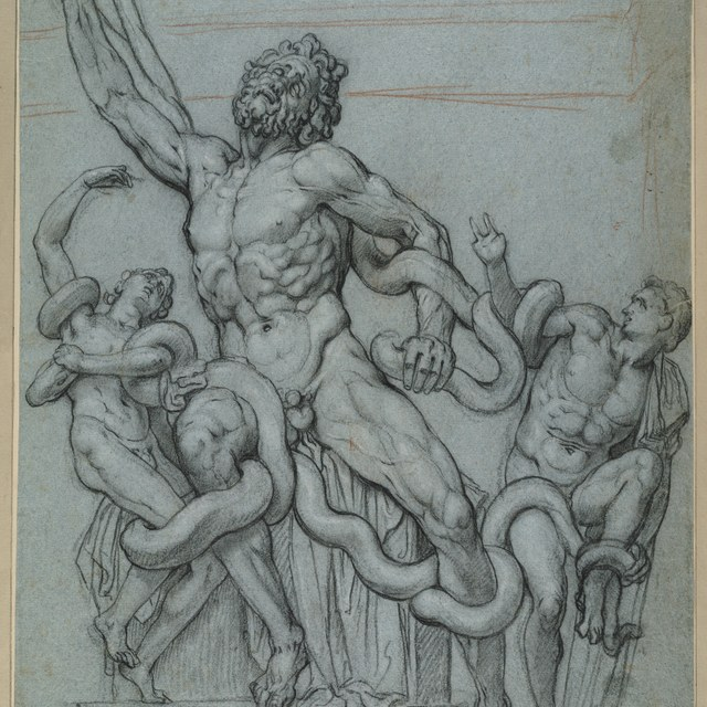 Laokoön en zijn zonen door slangen gedood
