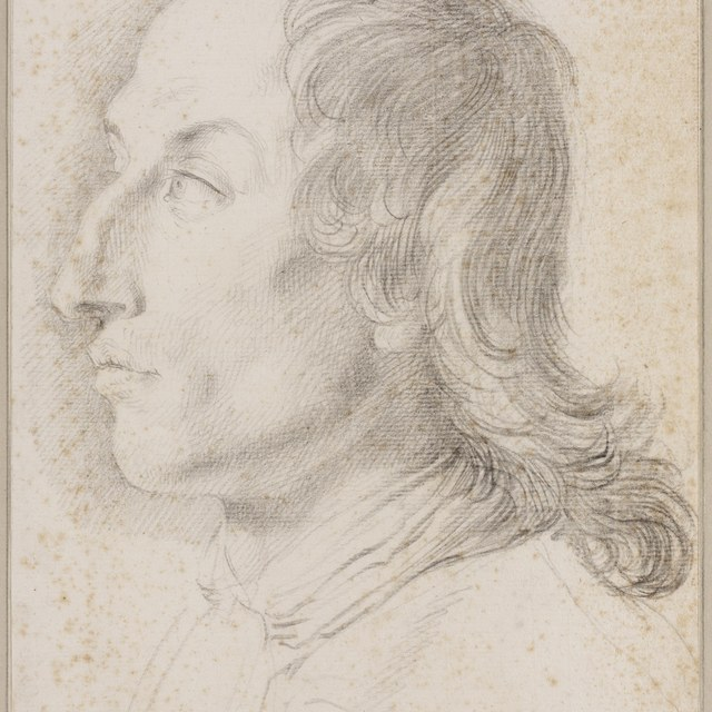 Mansportret, naar links