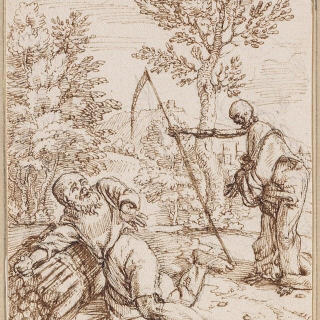 Een houthakker en de Dood