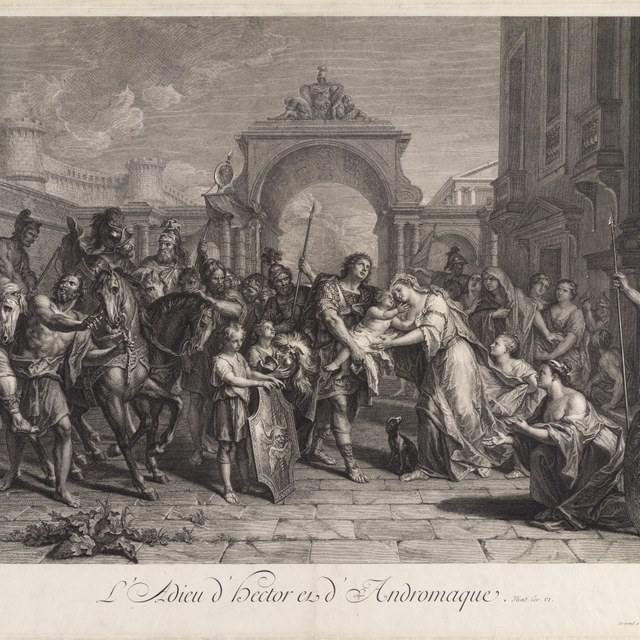 Hector's afscheid van Andromache.