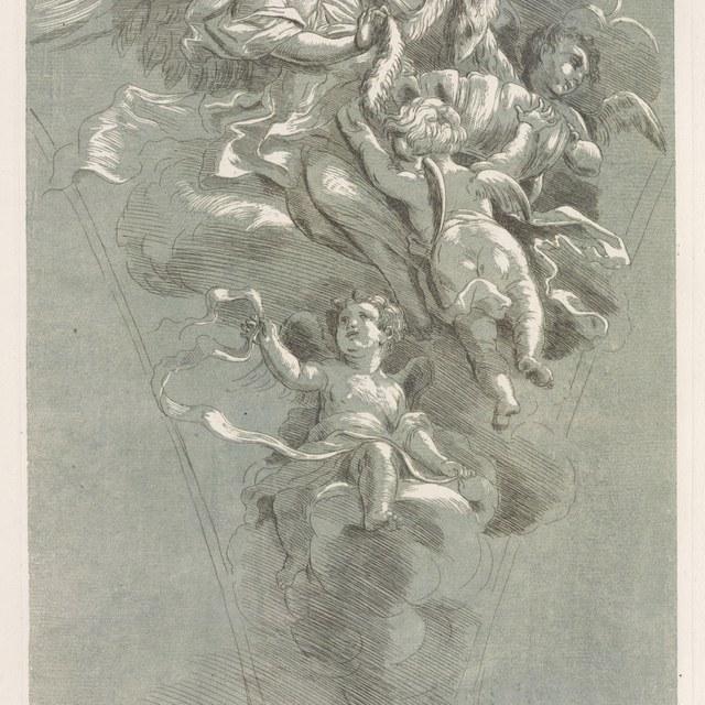 Engelen dragen de schapevacht van Gideon
