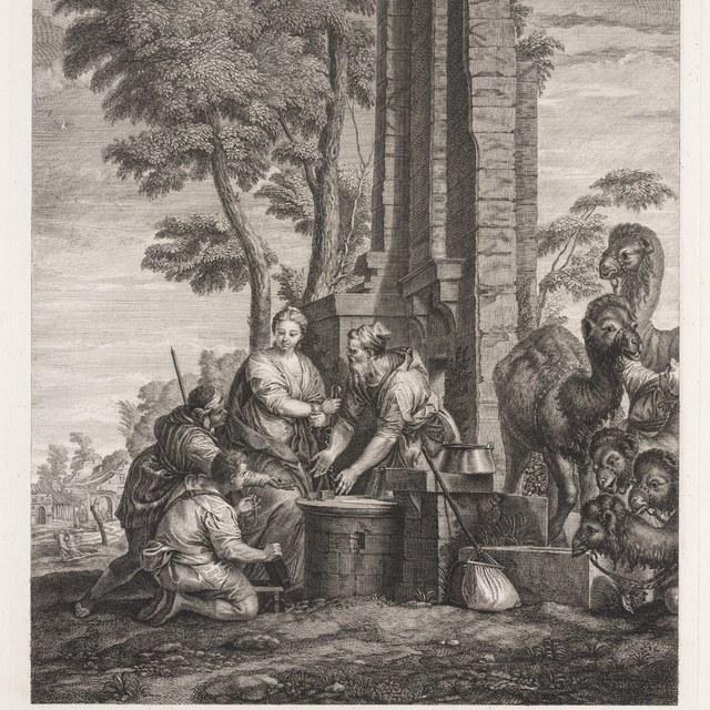Rebecca en Eliezer bij de bron
