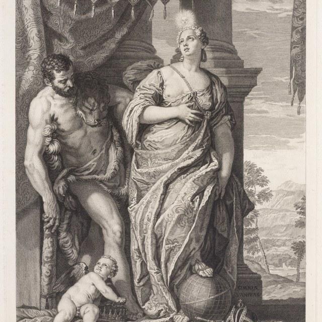 Hercules begeleidt de wijsheid (Omnia Vanitas)