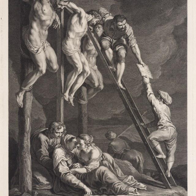 Golgotha, Christus tussen de twee misdadigers