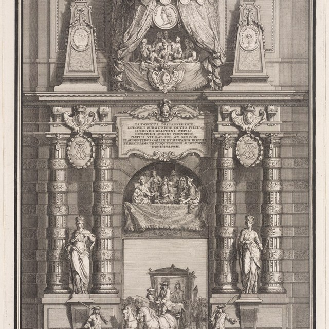 Decoration du grande pavillon du Louvre