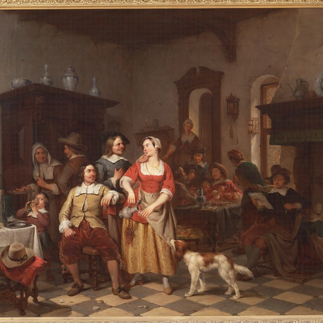 Jan Steen en Frans van Mieris in een herberg
