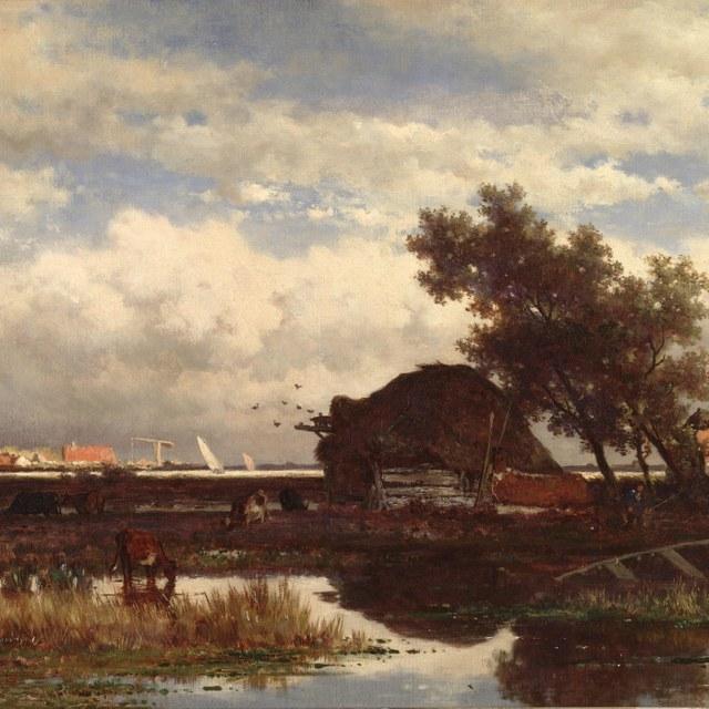 Landschap bij Dordrecht