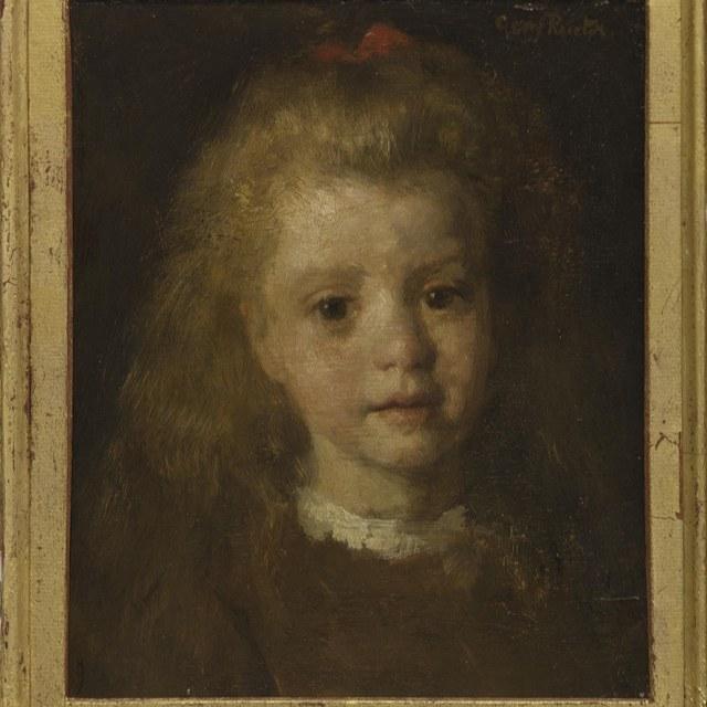 Portret Maria Rueter, oudste dochter van de kunstenaar