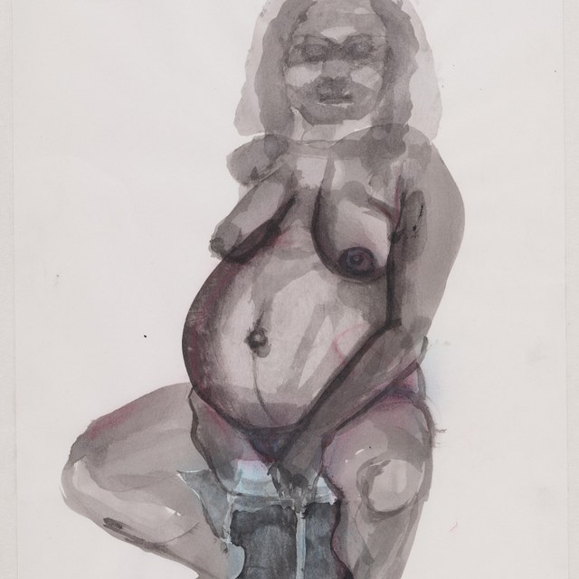Self portrait (as seen before giving birth)