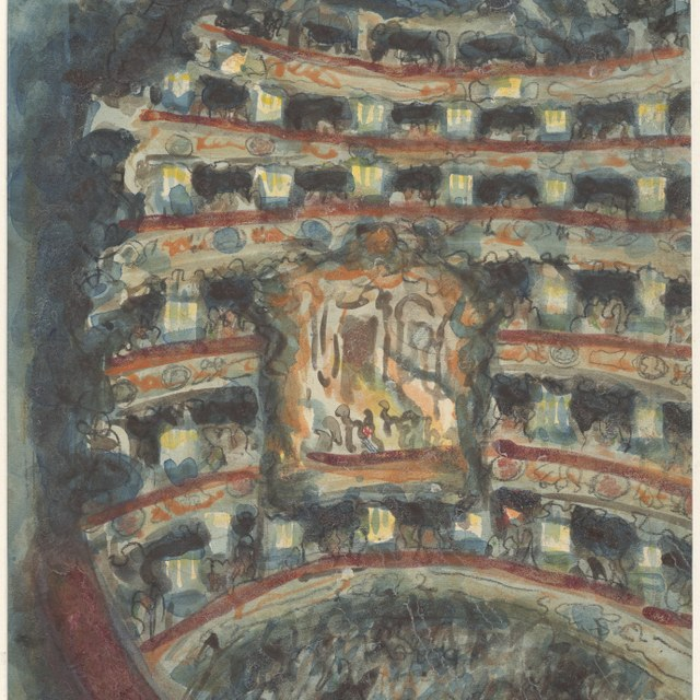 Het theater 'La Fenice' te Venetië, 1929