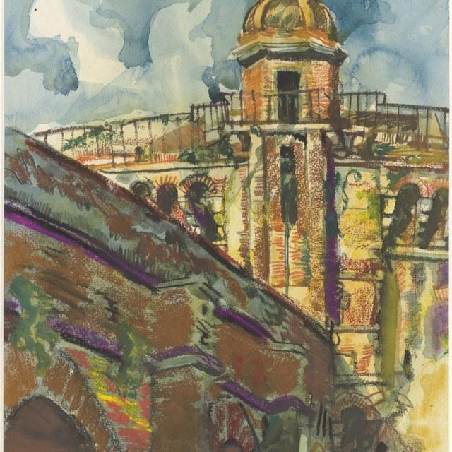 Gezicht op Castel S. Angelo te Rome, 1934