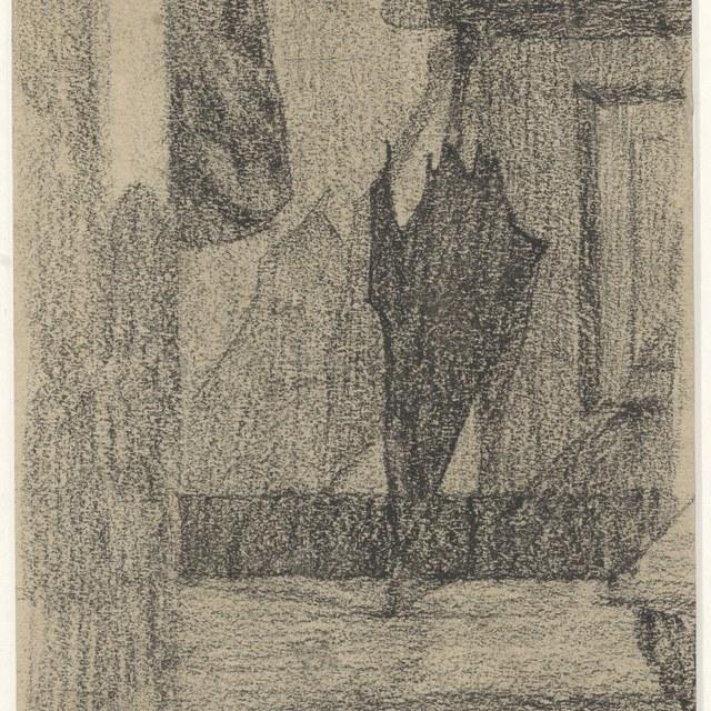 Paraplu tegen wand geplaatst (1905)