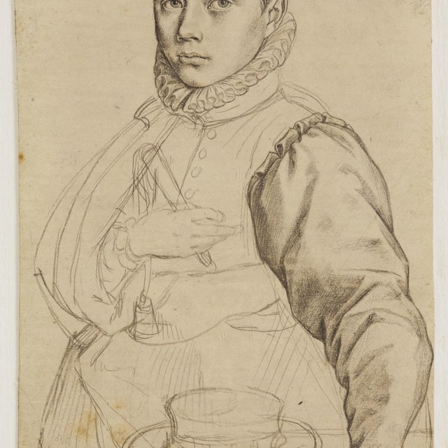 Portret Jacob Matham op 13-jarige leeftijd