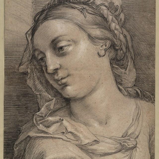 Portret van een vrouw met sluier