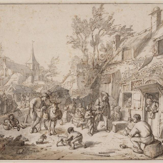 Kermis in een dorp