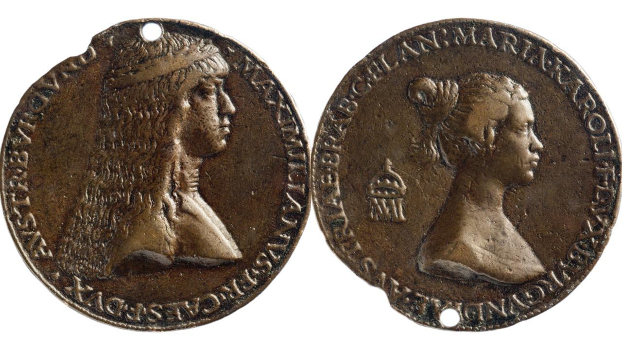 Portretten van Maria van Bourgondië en Maximiliaan van Oostenrijk (circa 1479)