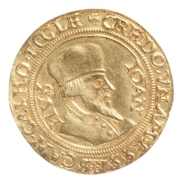 Johannes Huss (Hus) als ketter levend verbrand in 1415.