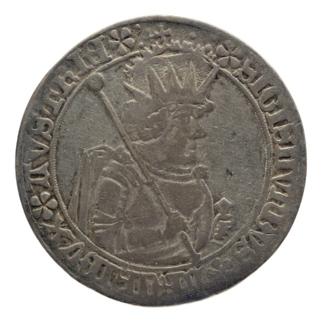 Halve taler uit Tirol op naam van Sigismund (1439-1496).