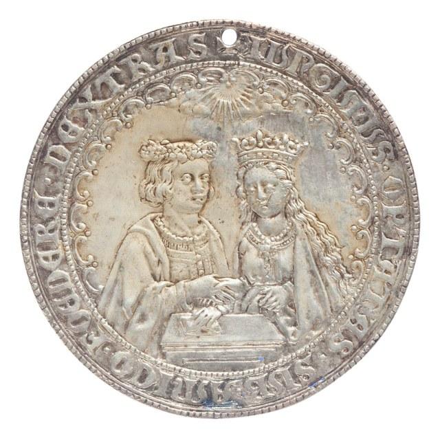 Huwelijk van (mogelijk) Hendrik VII, koning van Engeland met Elizabeth van York, in 1486.