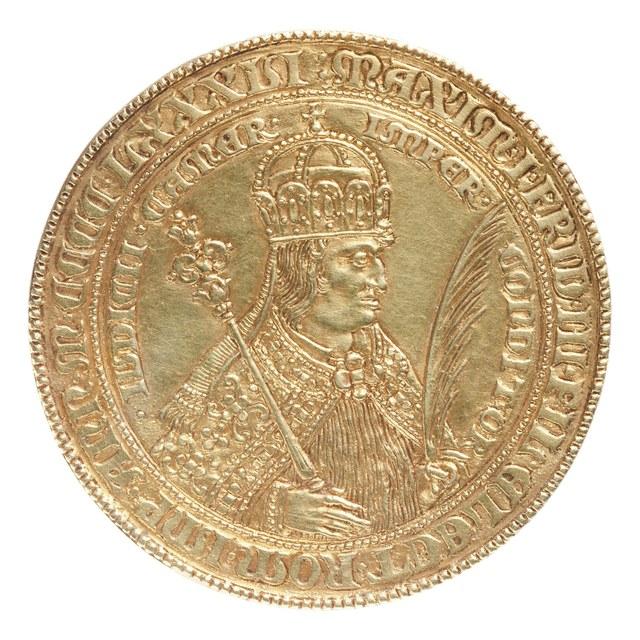 Kroning van Maximiliaan I, zoon van Frederik de derde, tot keizer.