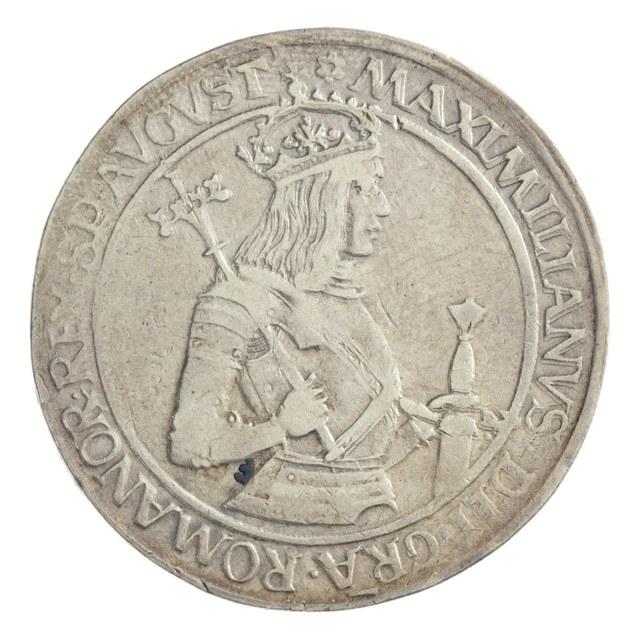 Königsguldiner uit het Heilige Roomse Rijk op naam van Maximiliaan I.