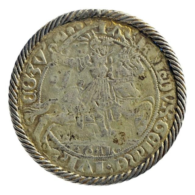 Snaphaan uit Gelre op naam van Karel van Egmond, hertog van Gelre (1477-1480, 1492-1538).