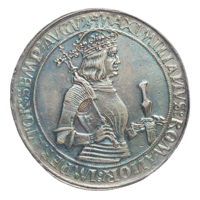 Kaiserguldiner van keizer Maximiliaan I (1493-1519).