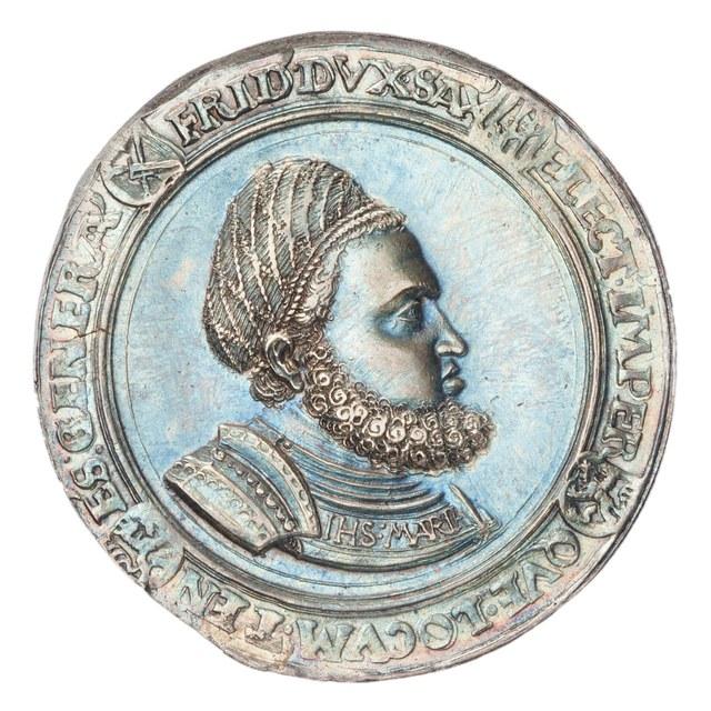 Schauthaler uit Saksen op naam van Frederik III van (De Wijze) Saksen, hertog van Saksen.