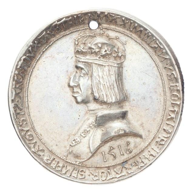Keizer Maximiliaan wegens het bedwingen van zijn opstandige troepen.