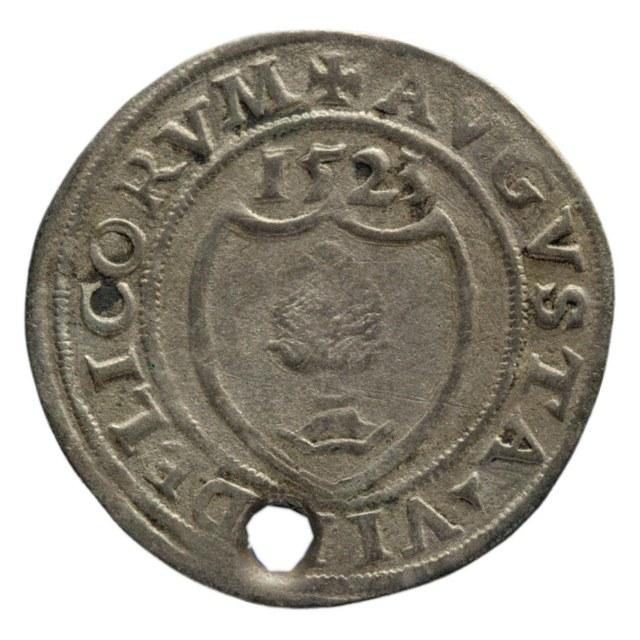Batz uit Augsburg op naam van Karel V, keizer (1519-1556).
